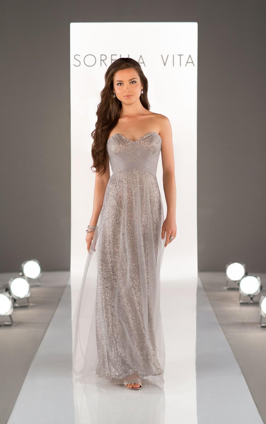 Wedding - Sorella Vita Sequin Bridesmaid Dress Style 8684