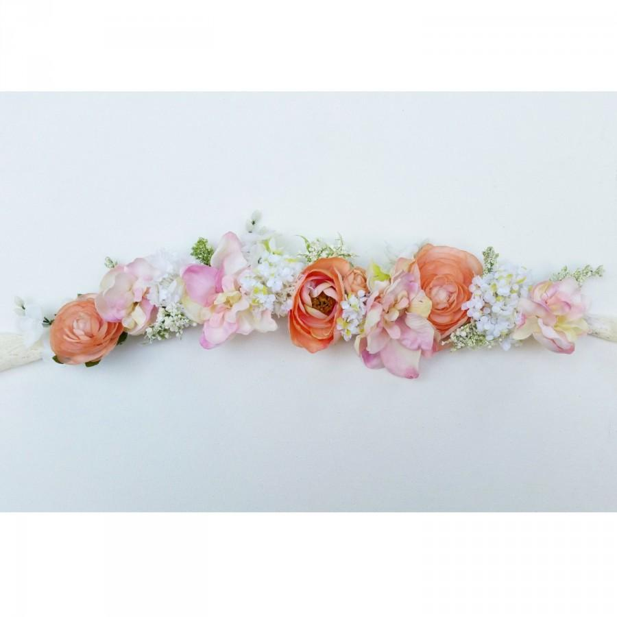 Flower Girl Flower Crown Custom Flower Crown Handmade Floral