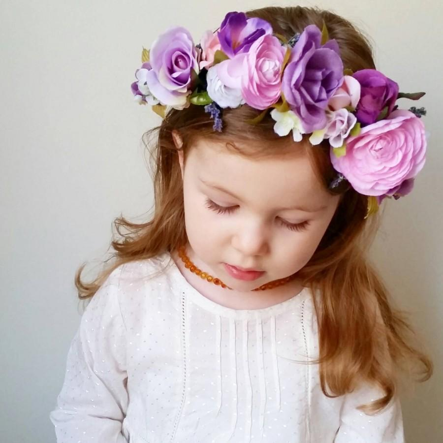 Custom wire form flower crown customized flower girl headband custom wire form flower crown customized flower girl headband you pick the colors bridal bridesmaid lace floral greenery mixed izmirmasajfo