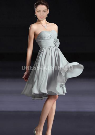 Свадьба - Buy Australia A-line Strapless Chiffon Knee Length Star Style Bridesmaid Dresses 8132250 at AU$122.30 - Dress4Australia.com.au