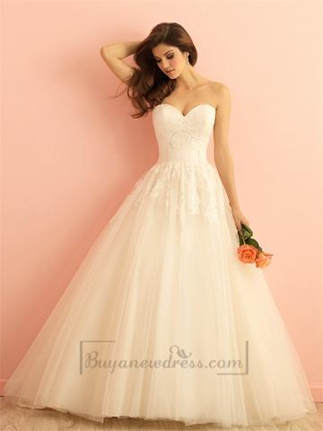 Wedding - Strapless Sweetheart A-line Ball Gown Wedding Dress