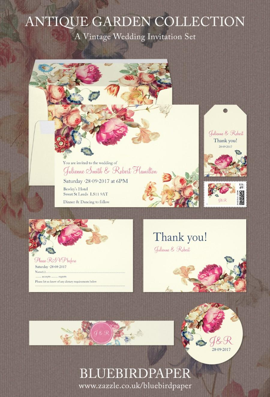 زفاف - Antique Garden, a Vintage Wedding Invitation Set