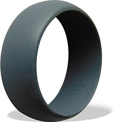 Wedding - Three (3) Mens Silicone Wedding Rings - Set of 3 Grey Silicone Wedding Band