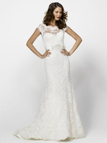 Lace Boat Neck A Line Bridal Wedding Gown With Corset Bodice