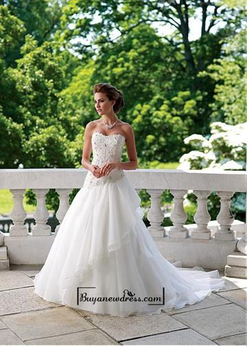 Wedding - Alluring Organza & Satin Sweetheart Neckline Natural Waistline A-line Wedding Dress