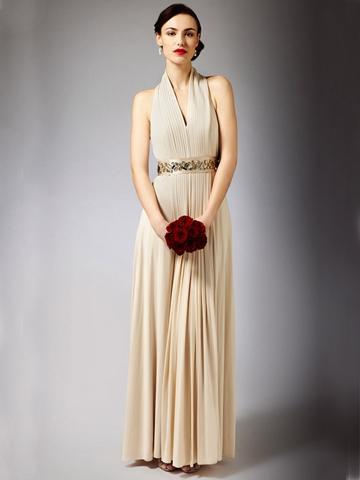 Wedding - Stunning Maxi Wedding Dress with Halter Neck and Floor Length Skirt
