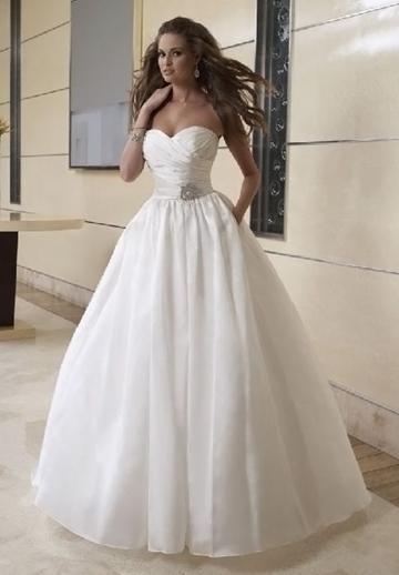 Pleated Taffeta Strapless Sweetheart Ball Gown 2 In 1 Wedding Dress