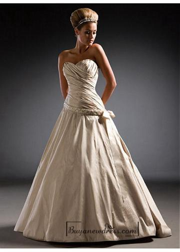 Düğün - Beautiful Elegant Exquisite Taffeta A-line Wedding Dress In Great Handwork
