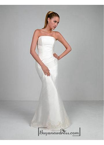 Свадьба - Beautiful Elegant Exquisite Taffeta Mermaid Wedding Dress In Great Handwork