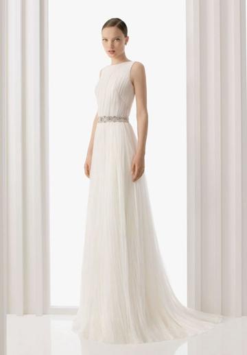 Свадьба - Organza Jewel Column Elegant Wedding Dress