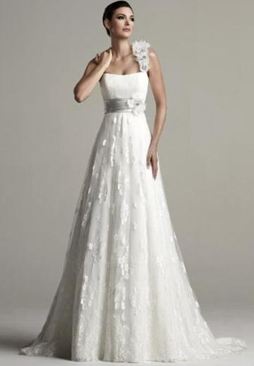 Свадьба - Tulle One-Shoulder Empire A-line Elegant Wedding Dress