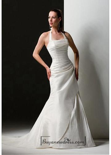 Wedding - Beautiful Elegant Exquisite Taffeta Sheath Wedding Dress In Great Handwork