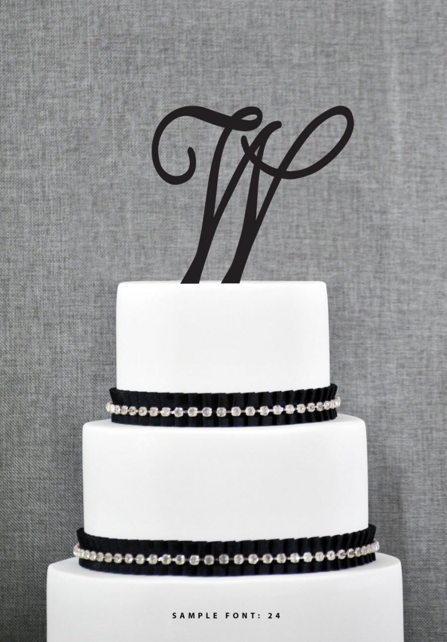Personalized Monogram ...W Monogram Wedding Cake Toppers