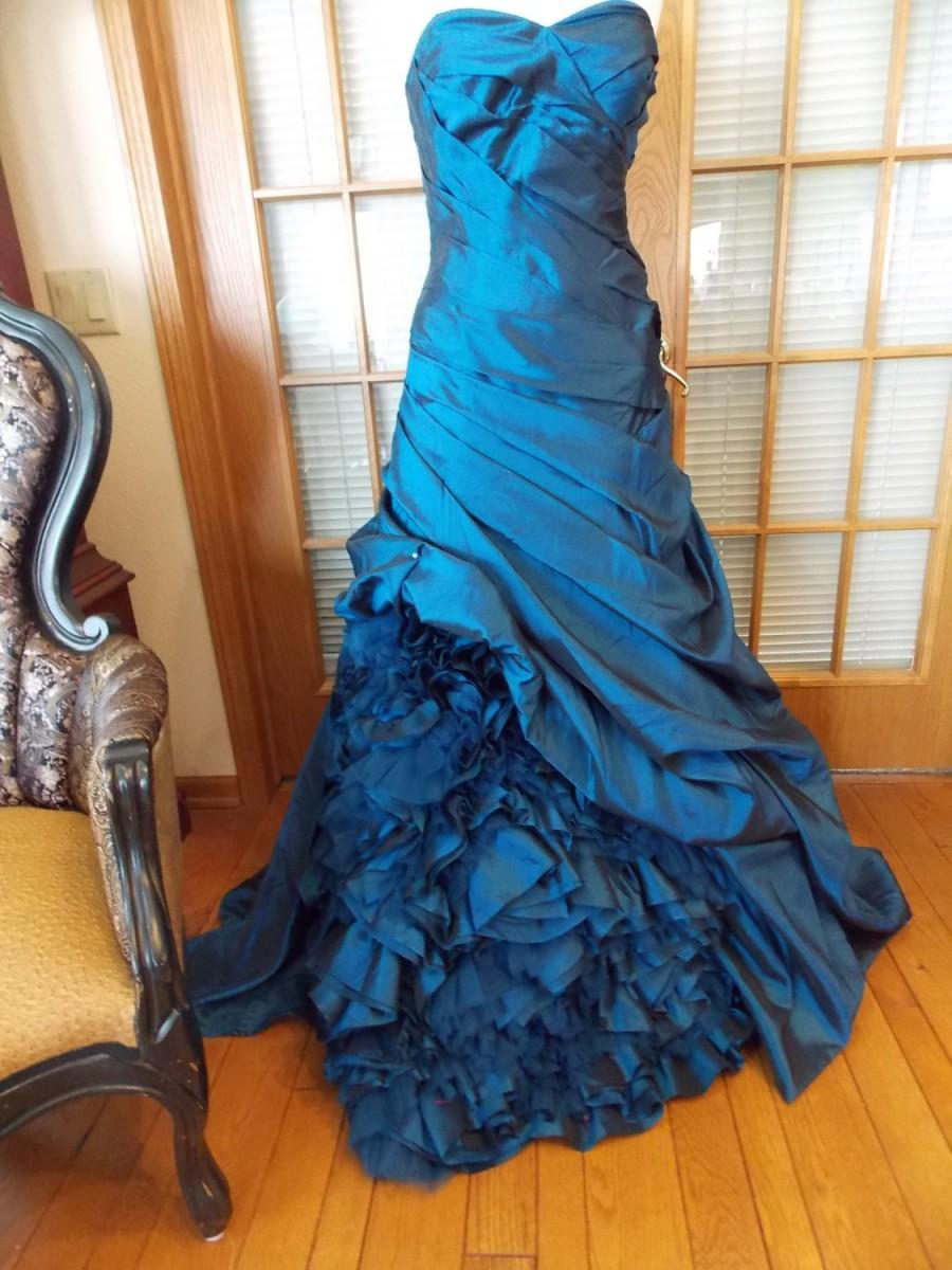 royal blue alternative wedding dress steampunk perfect