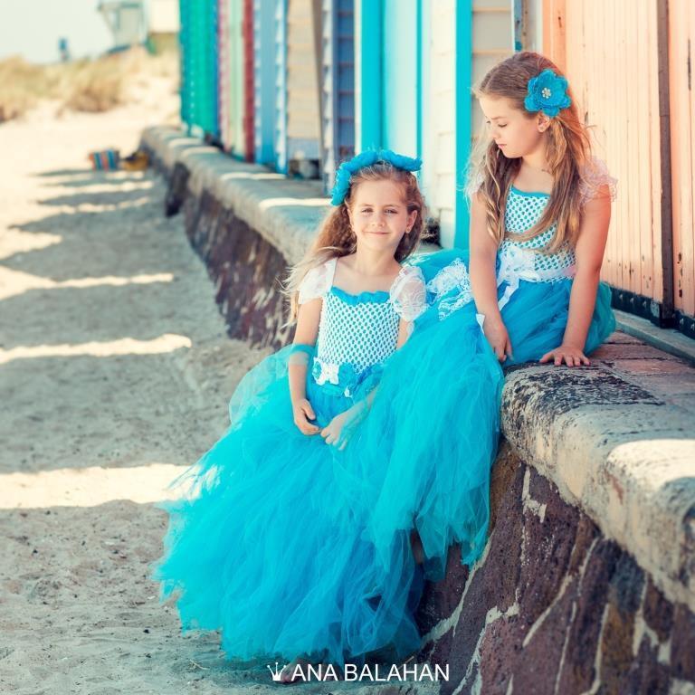 Hochzeit - Flower girl dress TURQUOISE, Modern flower girl tutu dress, Blue flower girl, Fairy Tutu dress, Blue girl dress, Fairy Dress