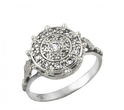 Diamond Wedding Ring White Gold Engagement Unique Vintage Style