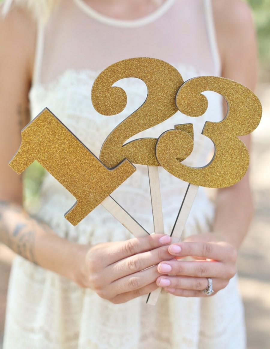 Свадьба - GOLD Table Numbers Rustic Chic Wedding By Morgann Hill Designs (Item Number MHD20024)