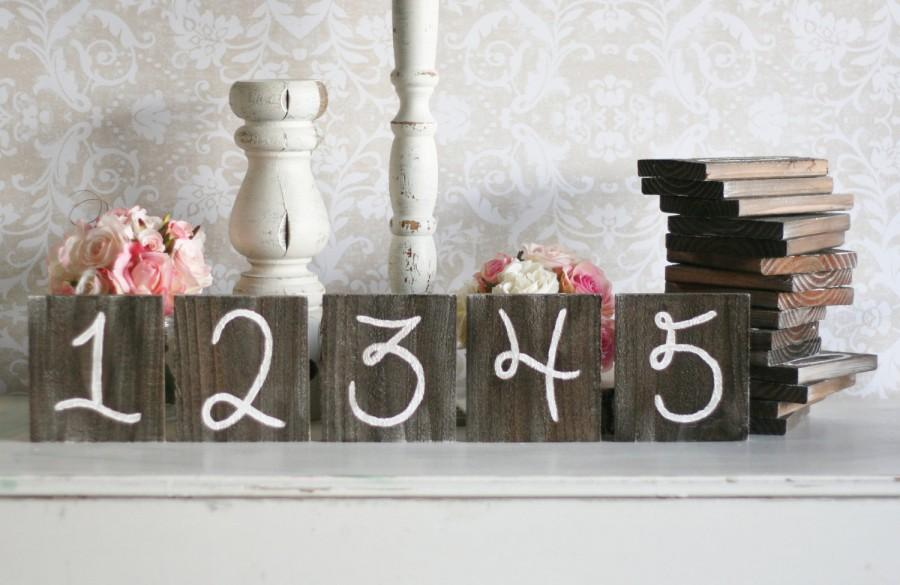 Mariage - Rustic Table Numbers Barn Wood Wedding Decor Farm Country Wedding (item P10433)