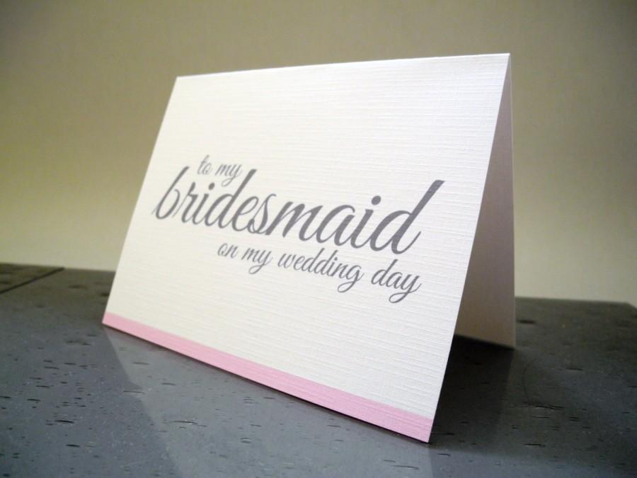 Mariage - Bridesmaid Thank You Cards - Wedding Thank You Cards - Maid of Honor - Flower Girl - Matron of Honor