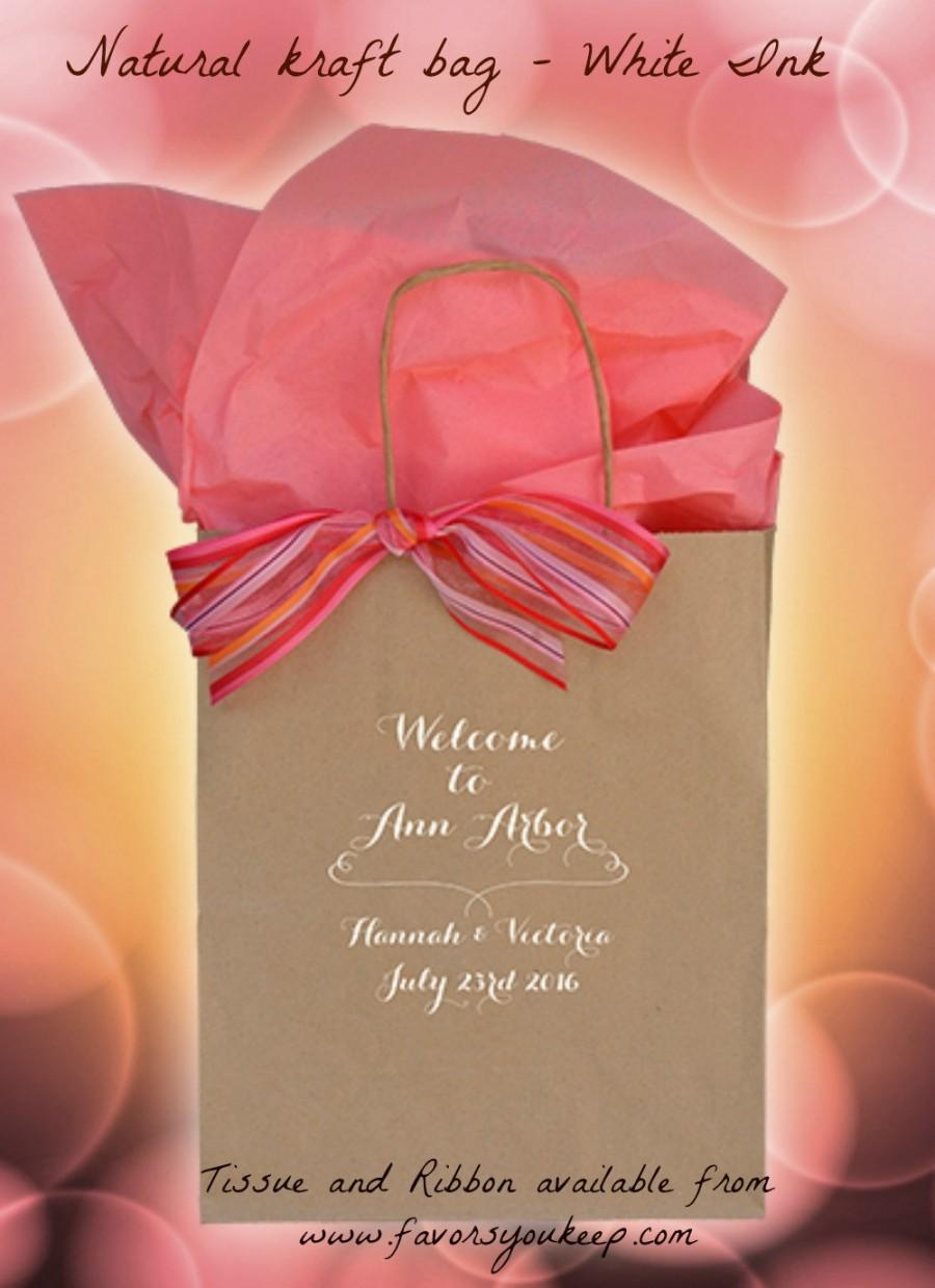 25+ Personalized Wedding Welcome Bags Wedding Guest Gift Bag Welcome ...