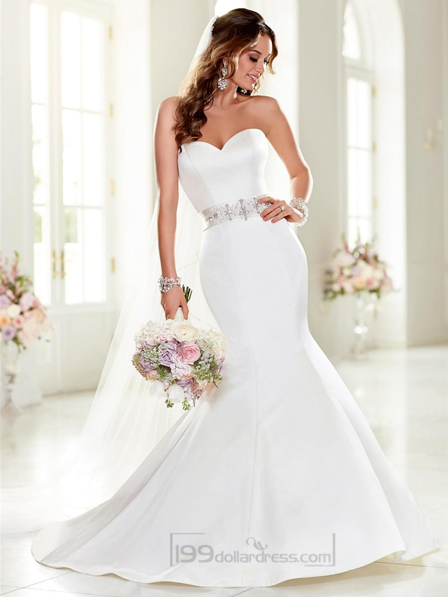 Wedding - Strapless Sweetheart Mermaid Wedding Dresses with Beading Waist