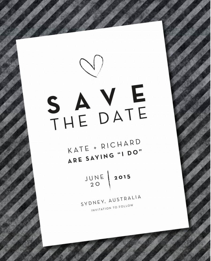 Hochzeit - Printed Save The Date Invitations