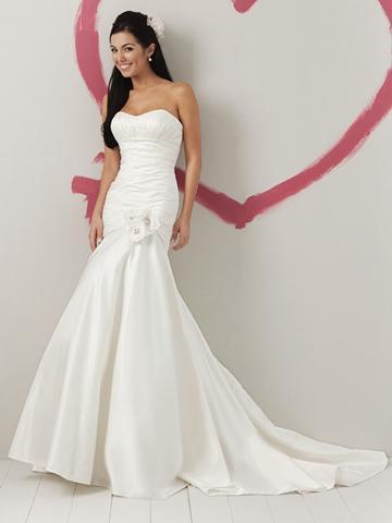 Wedding - Taffeta Strapless Glamorous Spring A-line Wedding Dress Drop Waist