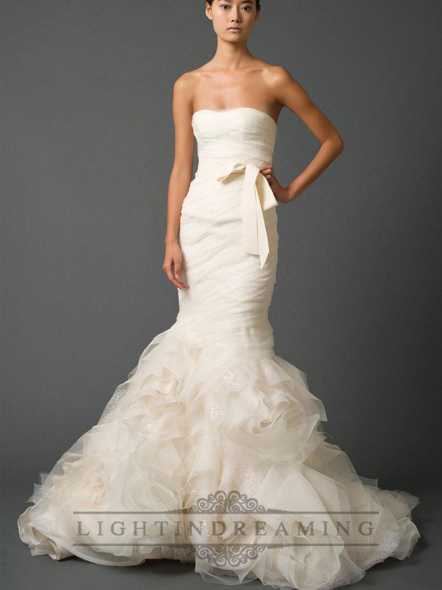 Wedding - Strapless Sweetheart Trumpet Pleated Wedding Dresses with Low Back - LightIndreaming.com