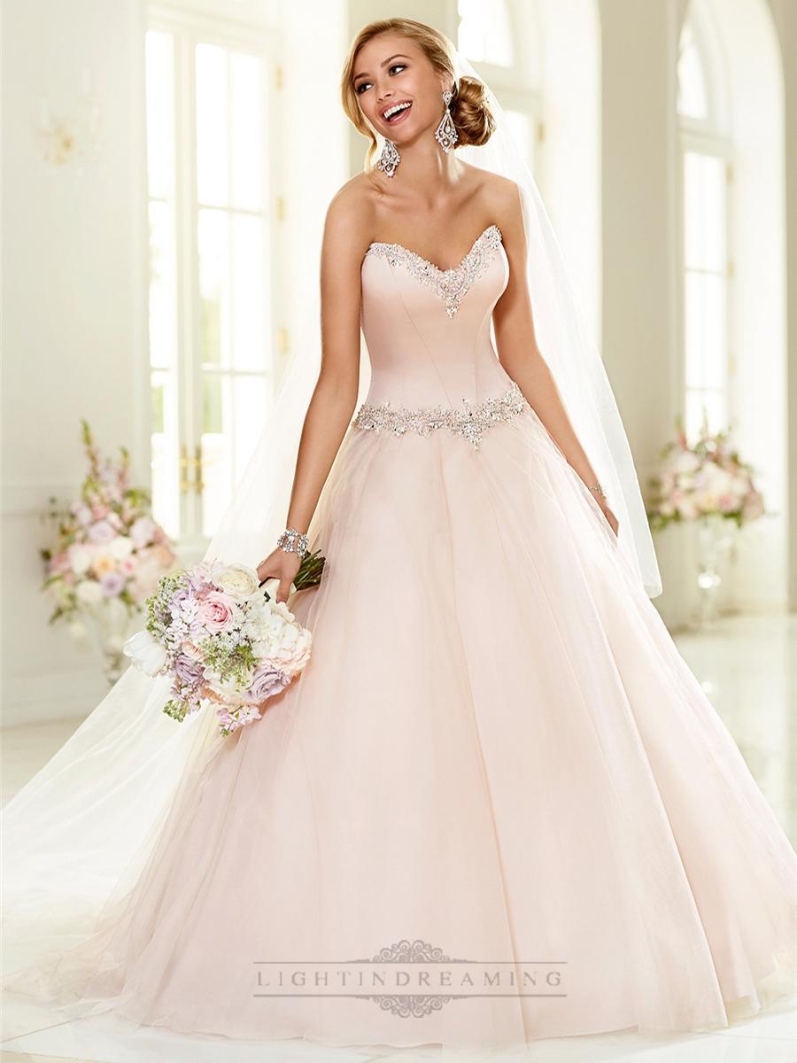 Elegant beaded sweetheart neckline ball gown wedding for Ball gown wedding dresses with sweetheart neckline and beading