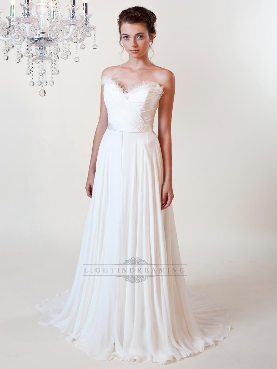 Wedding - Sheath Ruffled Sweetheart Wedding Dresses with Draped Skirt - LightIndreaming.com