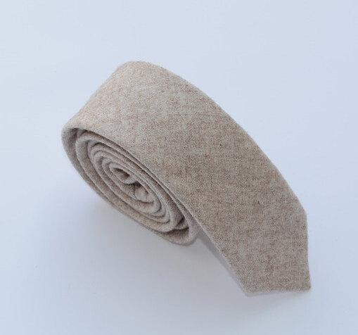 Mariage - Wool Ties.Wedding necktie.Beige Wool Neckties.Mens Ties,Business Ties.Slim Ties