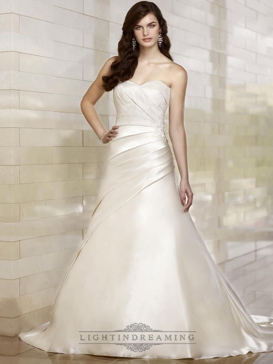Stunning trumpet sweetheart wedding dresses with for Trumpet skirt wedding dress
