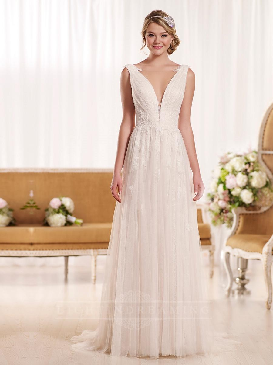 plunging neckline sheath vintage wedding dress lightindreamingcom plunge wedding dress Plunging Neckline Sheath Vintage Wedding Dress LightIndreaming com