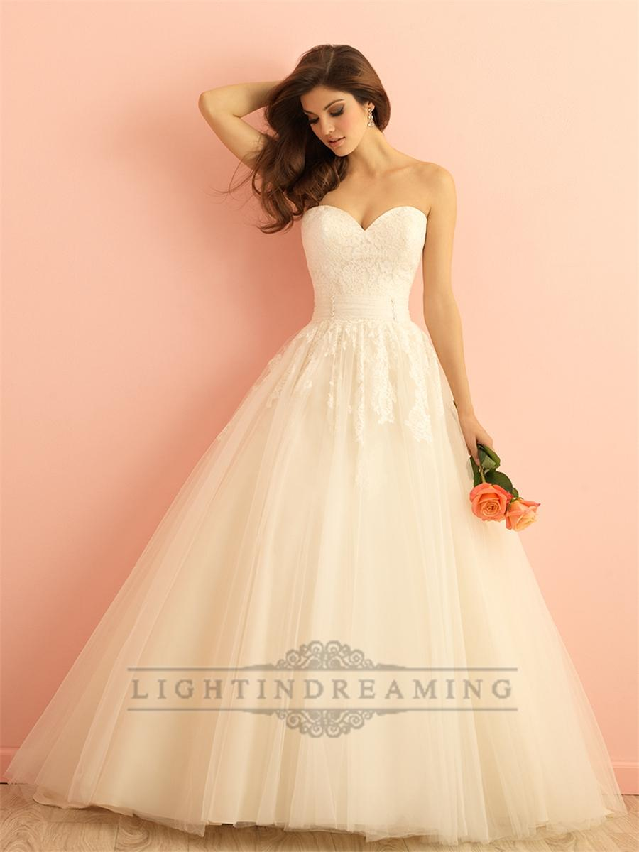 Strapless sweetheart a line ball gown wedding dress for Sweetheart strapless a line wedding dress