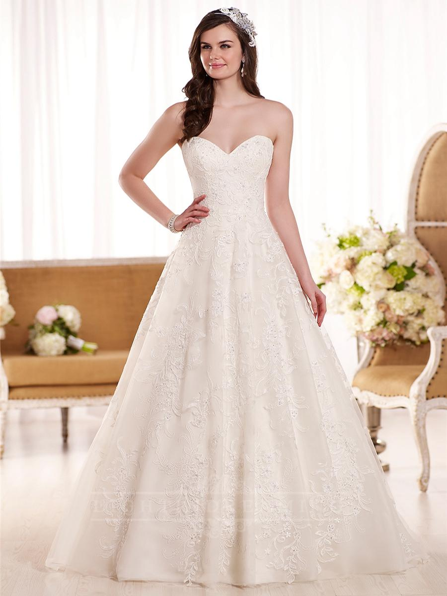 Mariage - Sweetheart A-line Lace Wedding Dress - LightIndreaming.com