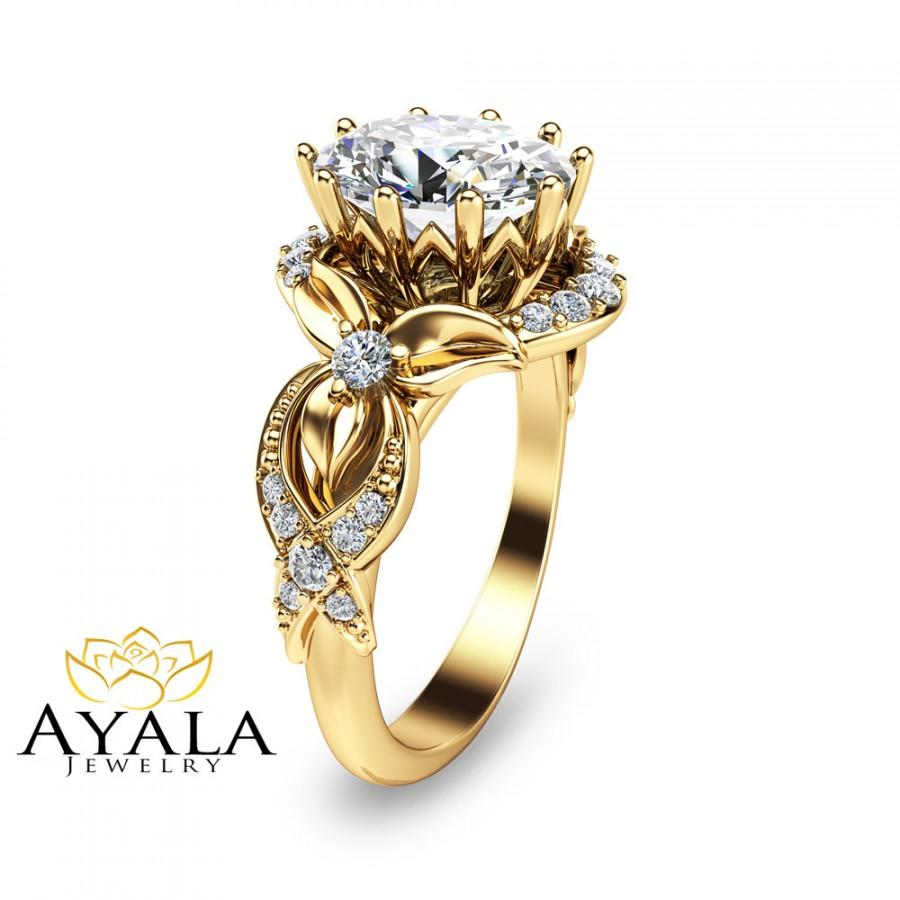 oval engagement ring 14k yellow gold oval