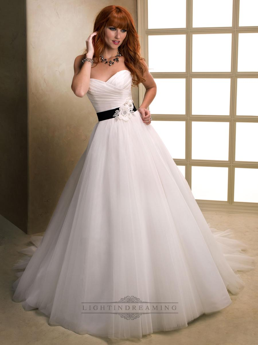 Asymmetrical Ruched Cross Sweetheart Ball Gown Wedding Dresses With ...