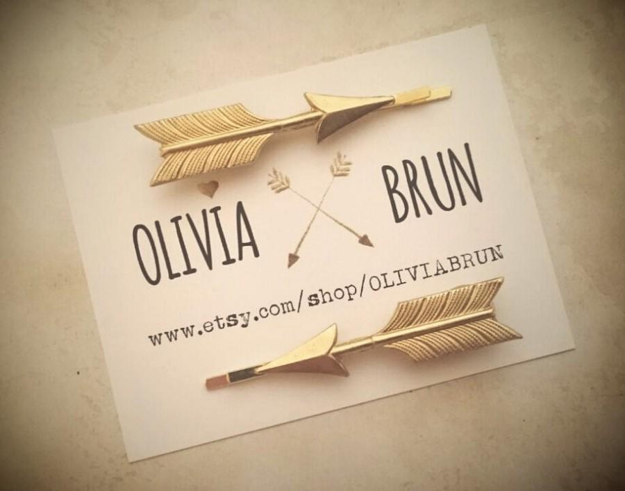 زفاف - Arrow Bobby Pin Gold Arrow Hair Pins Hair Clips Boho Hair Tribal Hair Accessories Bridal Hair Arrow Jewelry