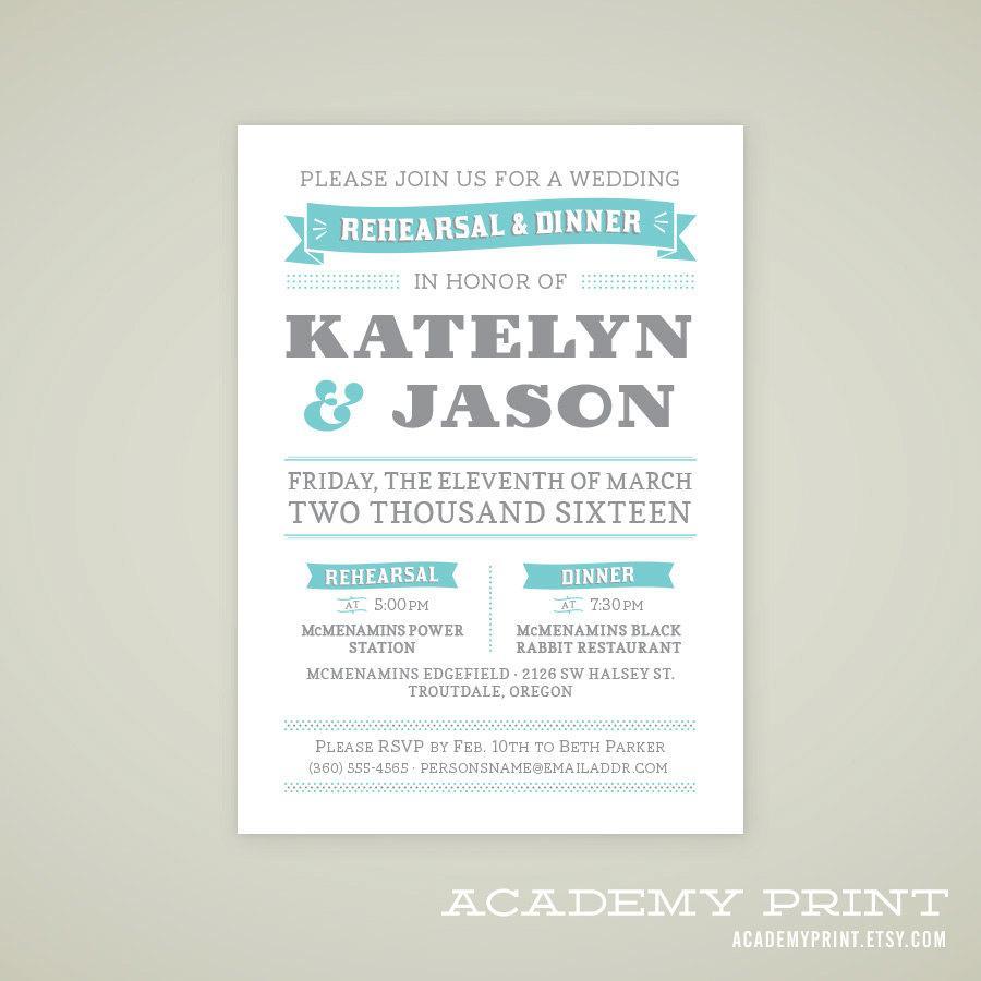 زفاف - Printable Wedding Rehearsal Invitation for Multnomah Suite - Custom Printable Wedding Rehearsal Announcement - DIY Printable Wedding Set