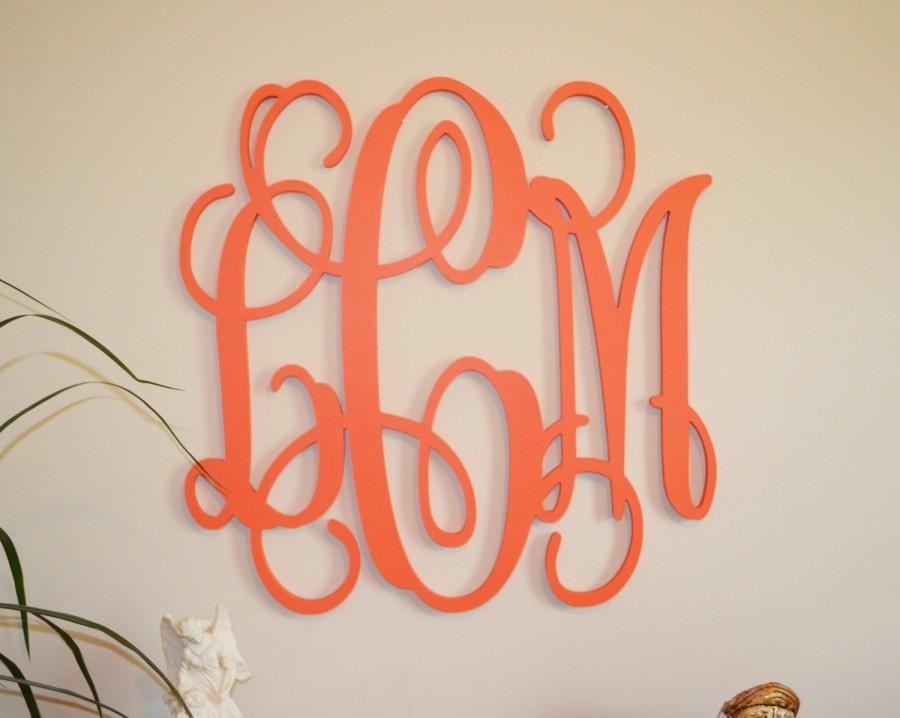 24 Painted Wood Monogram Initials