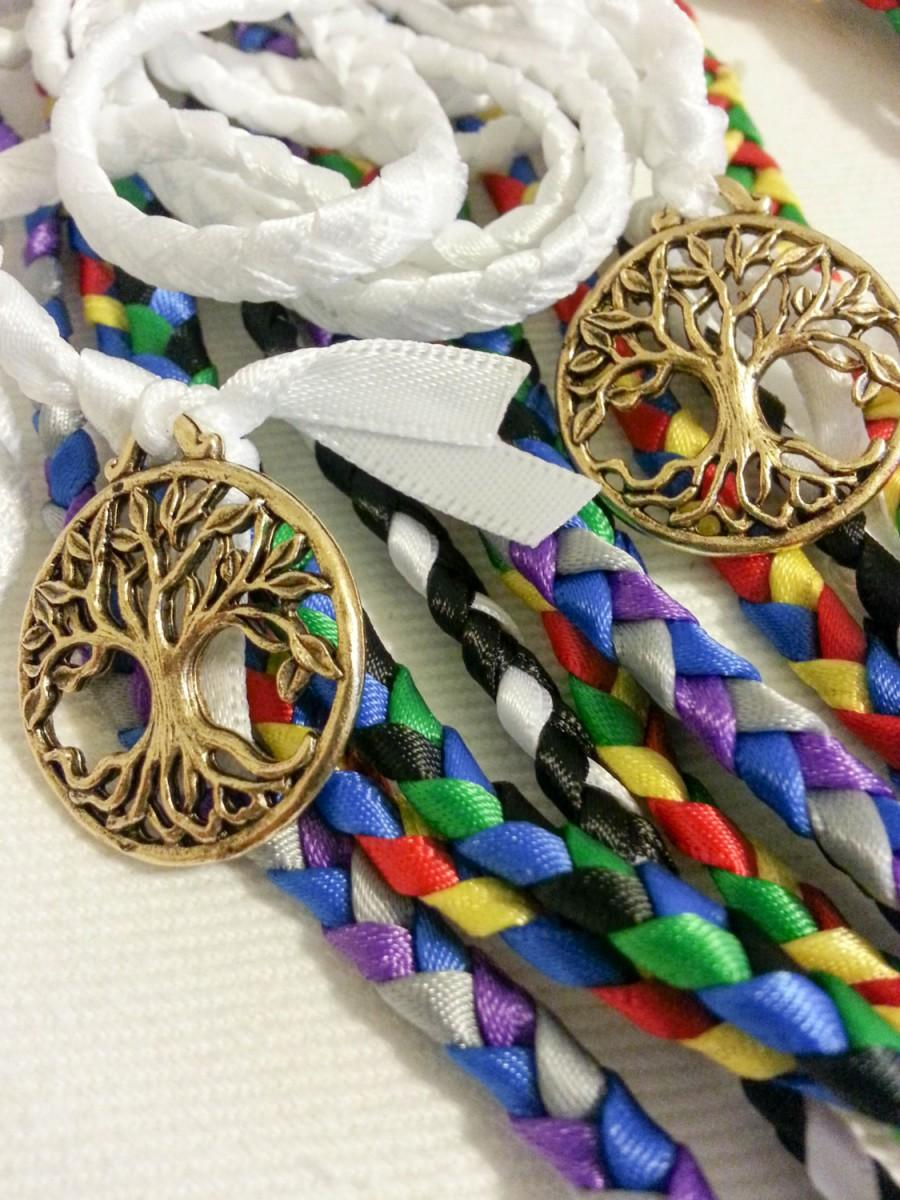 Mariage - 6 Cord  Handfasting Cord set ~ Handbinding ~ Celtic Tree of Life ~ Divinity Braid ~ Wedding Vow Ceremony ~ Tying the Knot