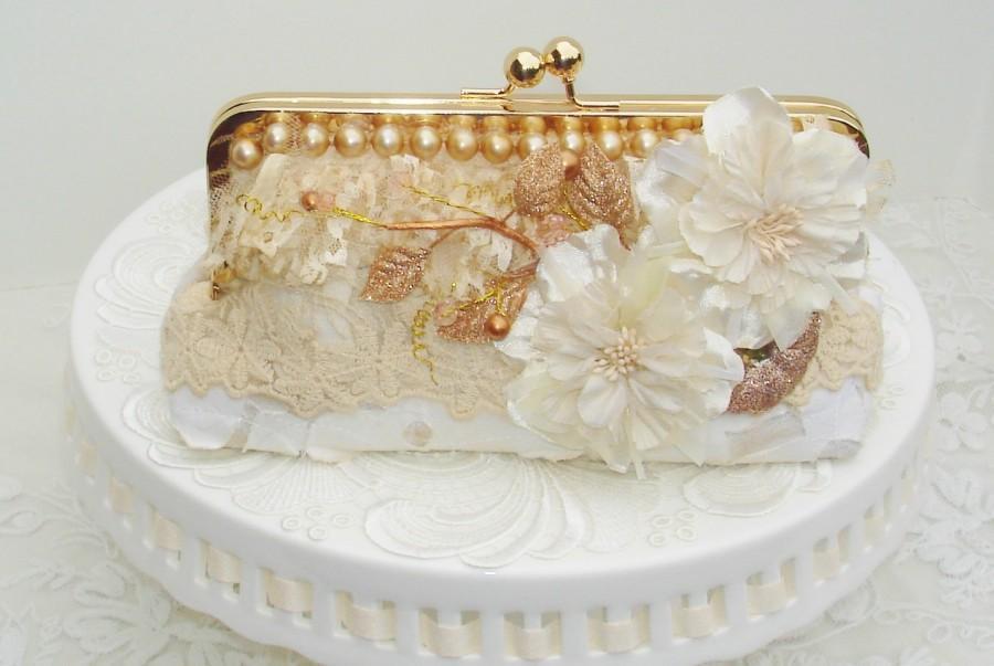Mariage - Spring Wedding / Downton Abbey / Great Gatsby / Ivory Wedding Bag / Bridal Clutch / Wedding Clutch
