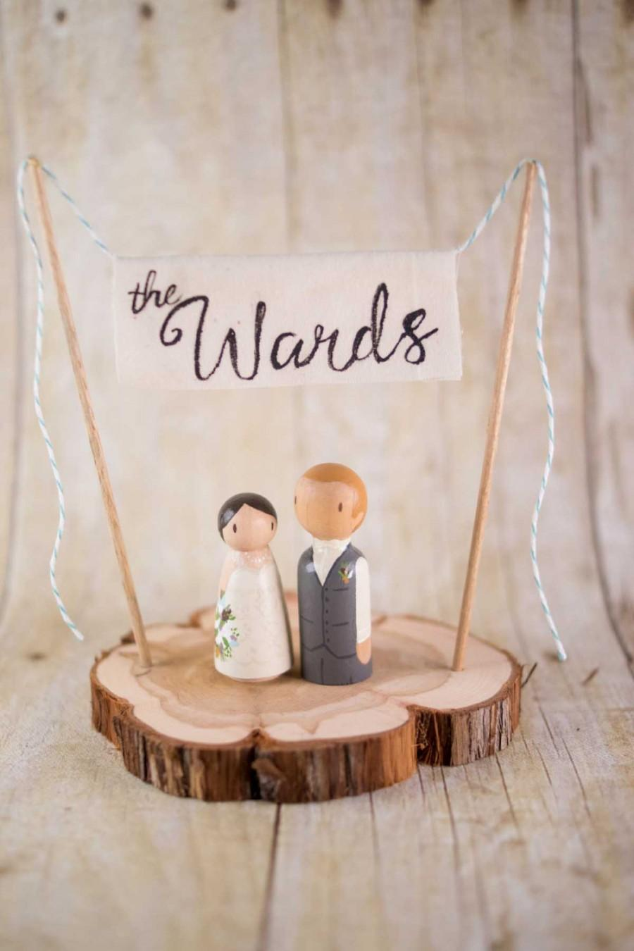 Custom Last Name Cake Topper