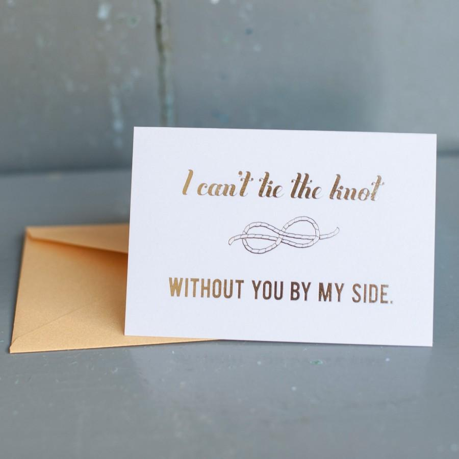 gold foil will you be my bridesmaid card bridal party card foil