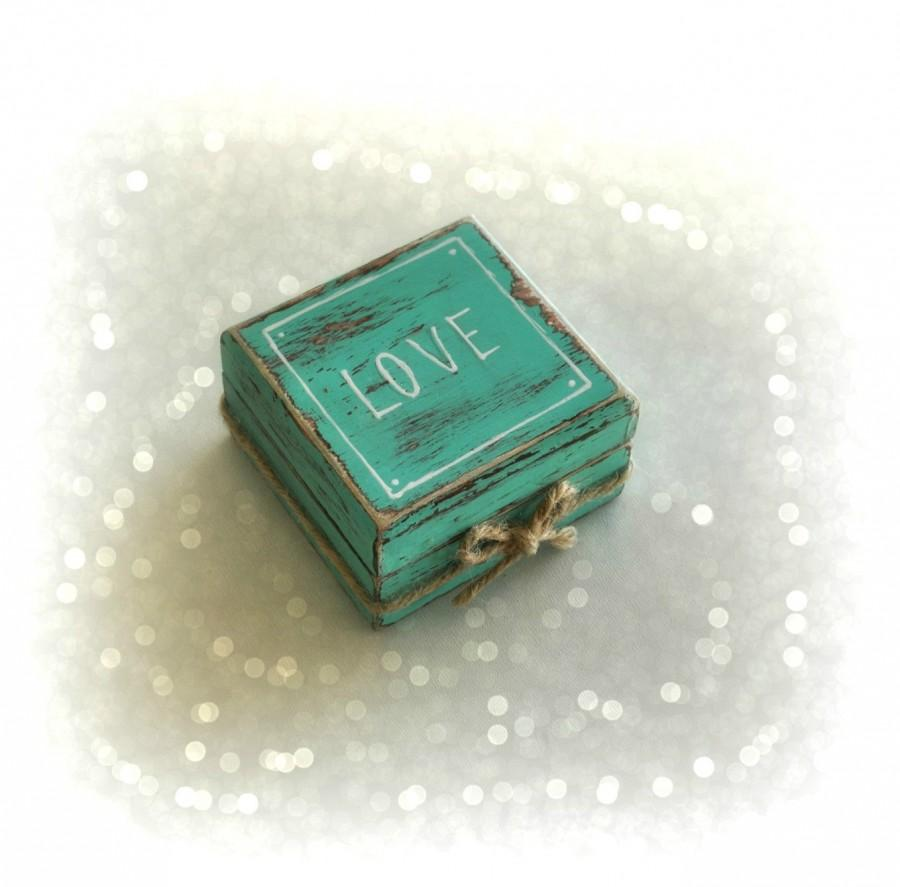 Mariage - Rustic Engagement  ring box, Anniversary gift, Proposal ring box, Ring pillow box, Personalized ring box, Wedding ring pillow
