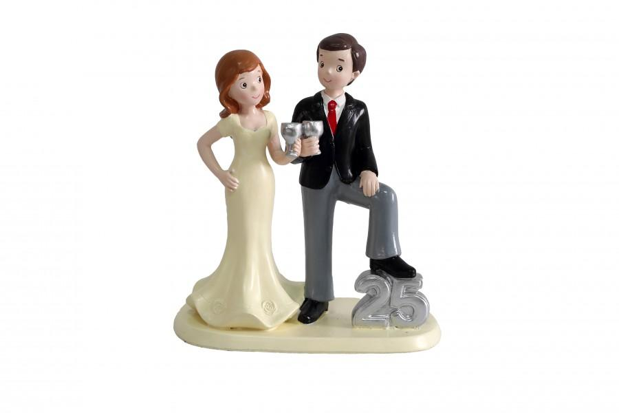 Hochzeit - Figura para Tarta de Bodas de Plata