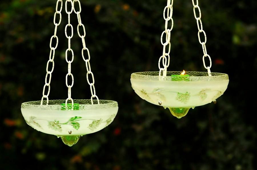 Mariage - Hanging wedding candle holders - vintage wedding - wedding candle holders (set of 2)