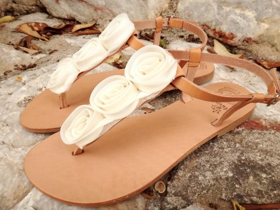 002925d217d5 Ivory Rose Bridal Sandals   Wedding Sandals Handmade Natural Leather    T-bar Leather Sandals  Genuine High Quality Leather