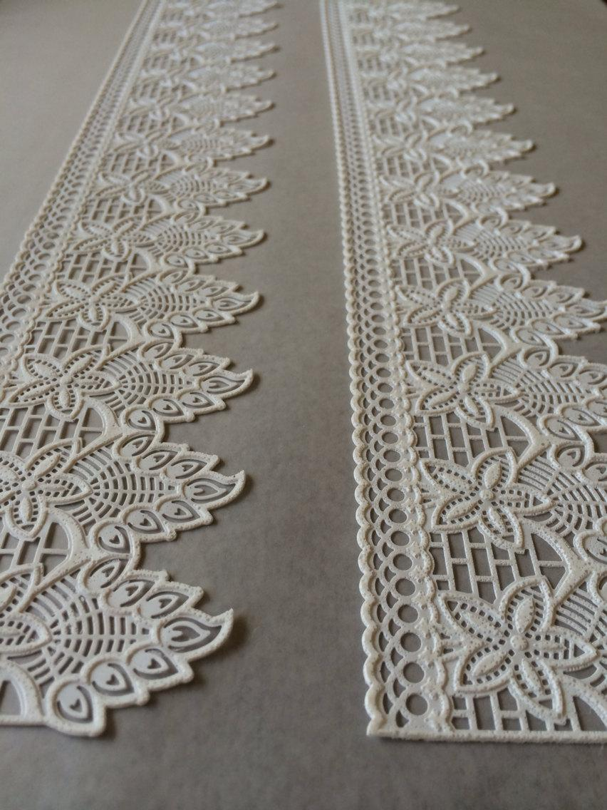 WHITE Cake Lace 3D Edible Lace Gatsby - Wedding - Antique ...