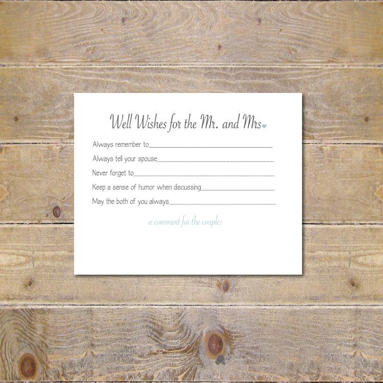 bridal shower activity well wishes cards wedding advice cards bridal shower wishes well wishes for mr and mrs